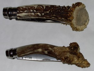 Opinel customs N°9 et N°7 en bois de chevreuil