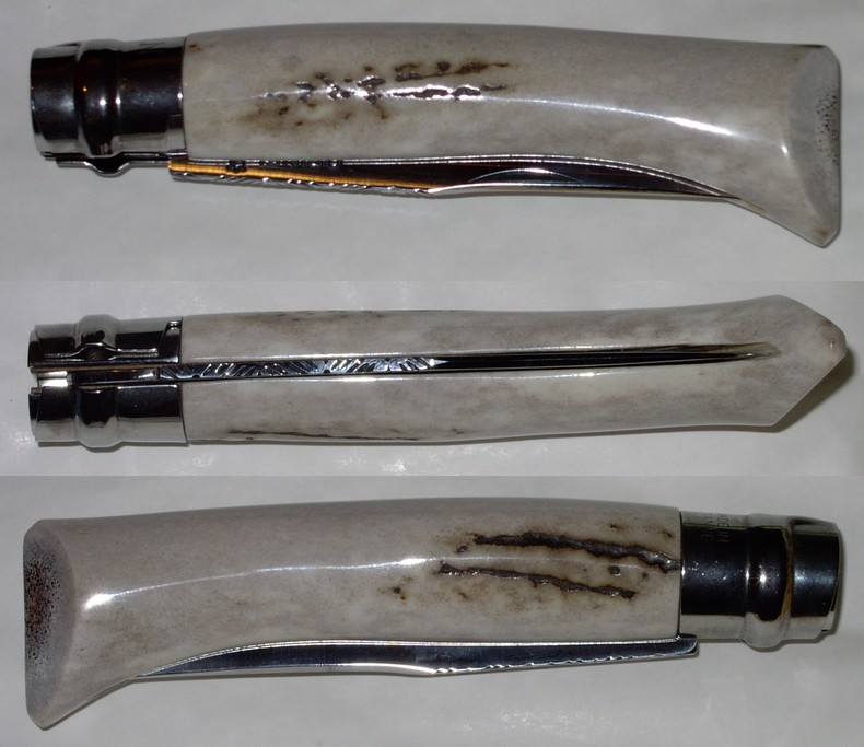 Opinel custom n 10 chasse en bois de cerf couteaux michel montlahuc - Comment bien aiguiser un couteau ...