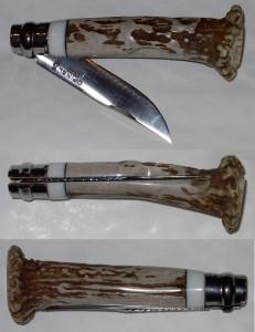 Opinel custom N°7 en bois de chevreuil et Corian