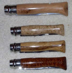 Quelques Opinel customs
