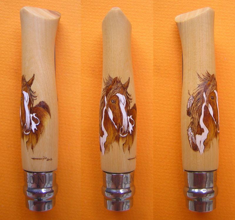 Opinel customs avec pyrogravure de Christian CAMBOULIVES « Couteaux ...