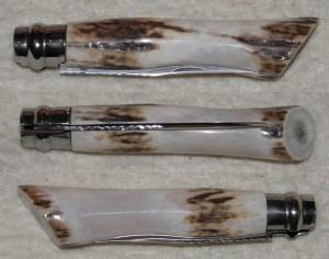 Opinel custom N°8 en bois de cerf de style moderne.