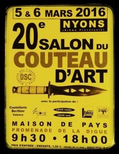 Salon du couteau de Nyons 5 et 6 mars 2016.