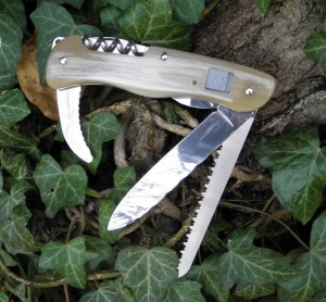 Victorinox Hunter custom corne blonde zébu